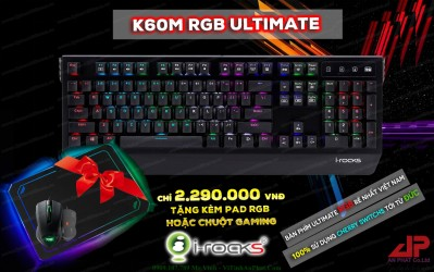 Phím Cơ I-Rocks K60M RGB Ultimate Cherry Switchs