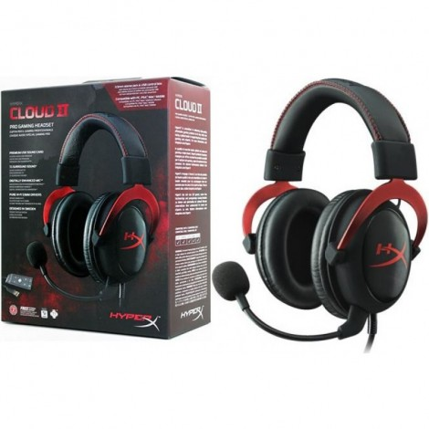Tai nghe Kingston HyperX Cloud 2 Gaming Red/Grey Metal/Pink/Black